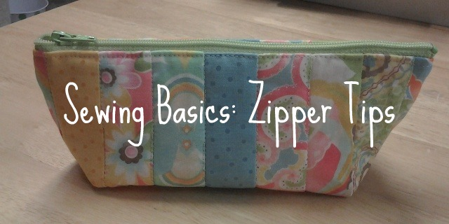 sewing basics zipper tips